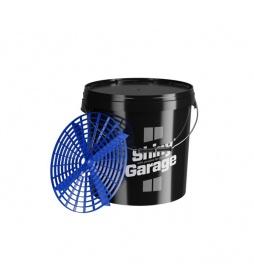 Shiny Garage Wiadro Czarne 20L + Grit Guard Blue