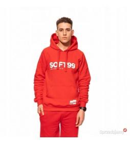 Soft99 Czerwona Bluza z Kapturem- S