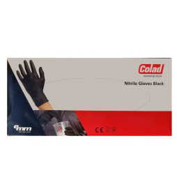Colad Rękawiczki Nitrylowe Czarne 60szt L