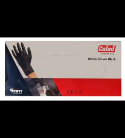 Colad Rękawiczki Nitrylowe Czarne 60szt M