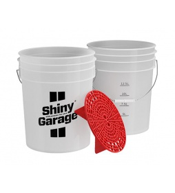 Shiny Garage Wash Bucket 20L + GritGuard Red