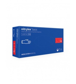 NITRYLEX rękawiczki  niebieskie L 100 szt.